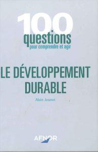 Couverture d'ouvrage: Le Développement Durable
