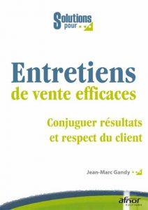 Couverture d'ouvrage: Entretiens de vente efficaces