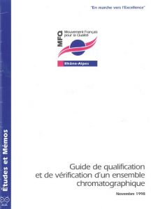 Couverture d'ouvrage : Guide de qualification et de vérification d'un ensemble chromatographique