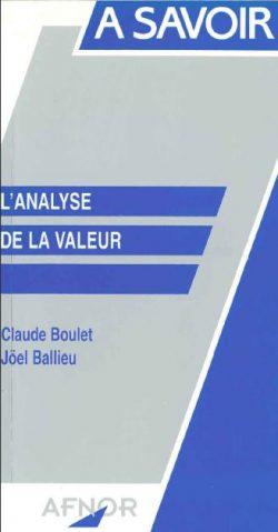 Couverture d'ouvrage: L'Analyse de la valeur