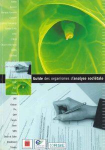 Couverture d'ouvrage: Guide des organismes d'analyse sociétale