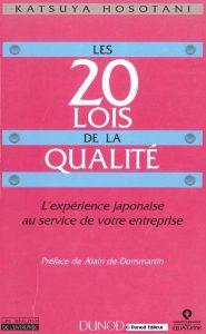Couverture d'ouvrage: Les 20 lois de la qualité