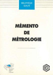 Couverture d'ouvrage: Mémento de métrologie