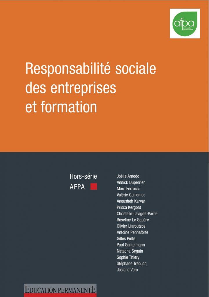 Couverture d'ouvrage: Responsabilité sociétale des entreprises et formations