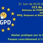 21/06/2018 à  8h30 > Petit-déjeuner RGPD en pratique (à Pontalier)