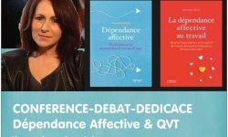 28/03/2019 à 14h00 > Conférence-débat-dédicace de Geneviève Krebs «Dépendance affective & QVT : l'impact sur la relation et la performance en entreprise»
