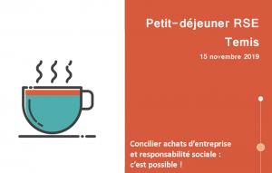 """15 novembre 8h - Petit déjeuner RSE @ Restaurant """"Chez Elle"""""""