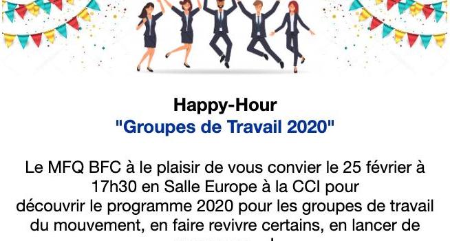 Happy Hour des groupes de travail et clubs du MFQ