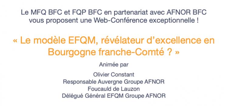 Web Conférence Le Référentiel EFQM – Olivier Constant, Foucauld de Lauzon